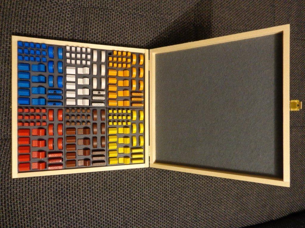 Holzkiste passend für 6x Basisspiel und Städte und Ritter