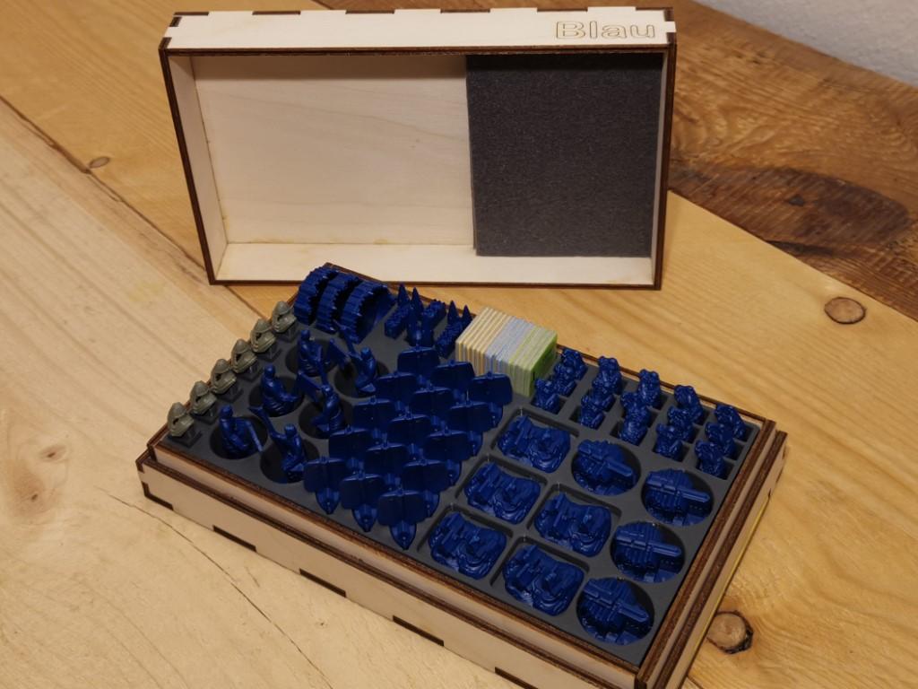 Holzkiste passend für Basisspiel, Seefahrer, Städte u. Ritter Kunststofffiguren DIY