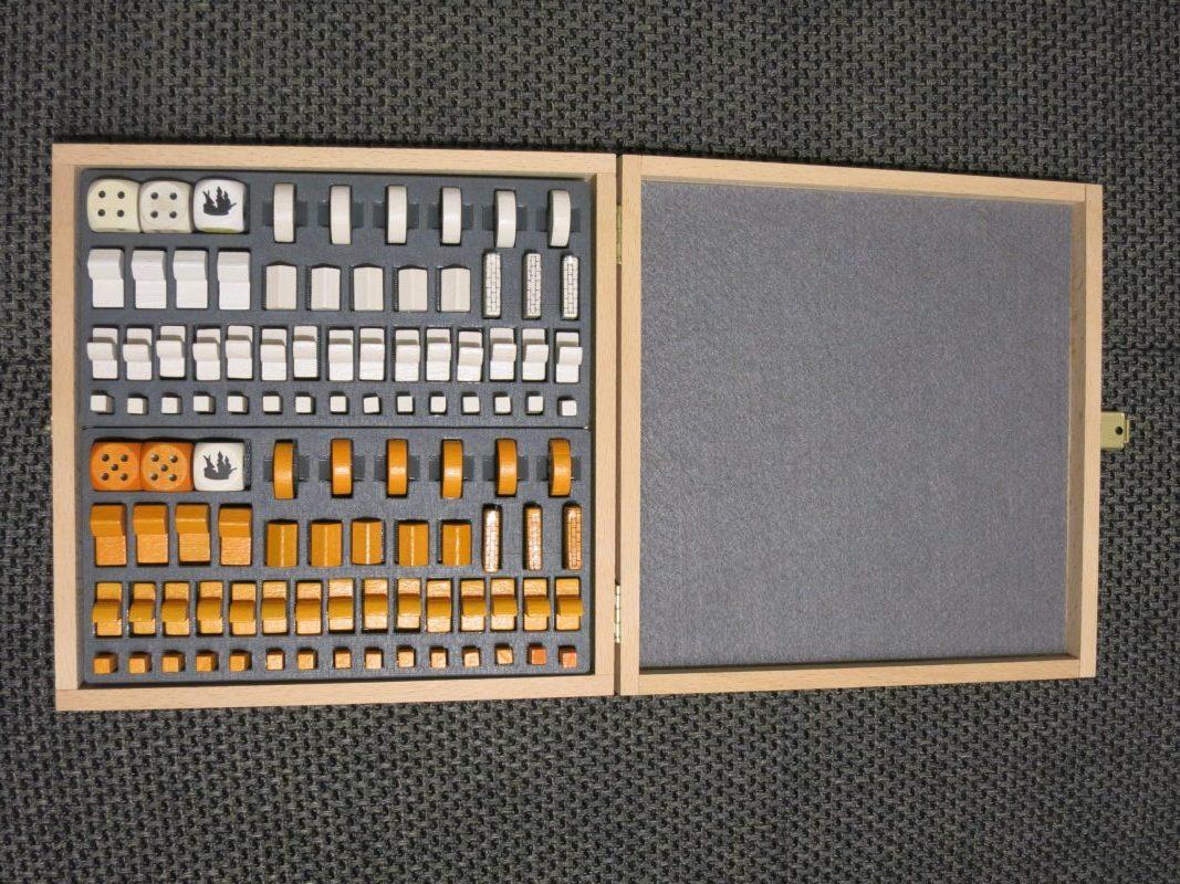 Holzkiste passend für 2x Basisspiel, Seefahrer, Städte u. Ritter