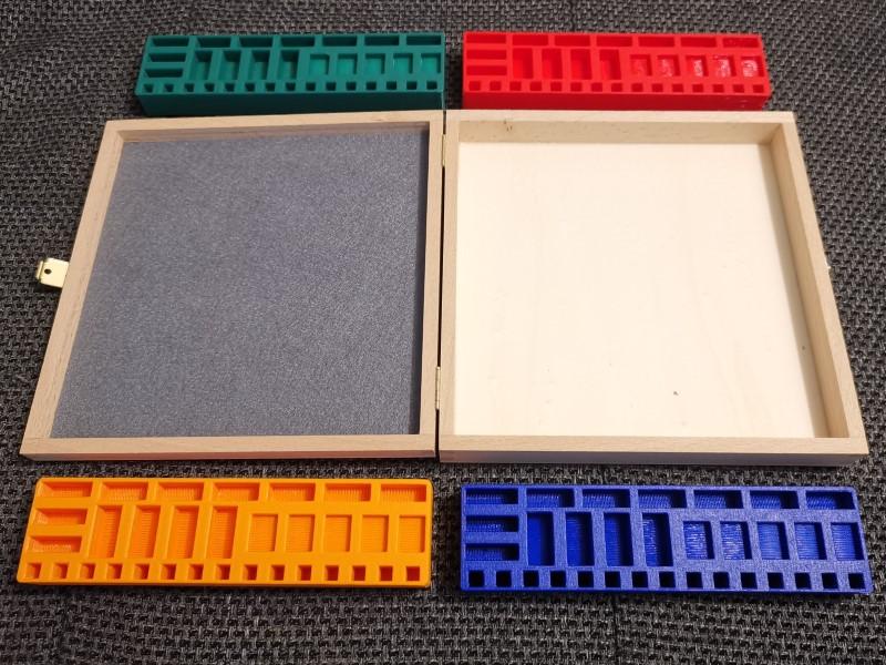 Holzkiste passend für 4x Basisspiel und Städte und Ritter