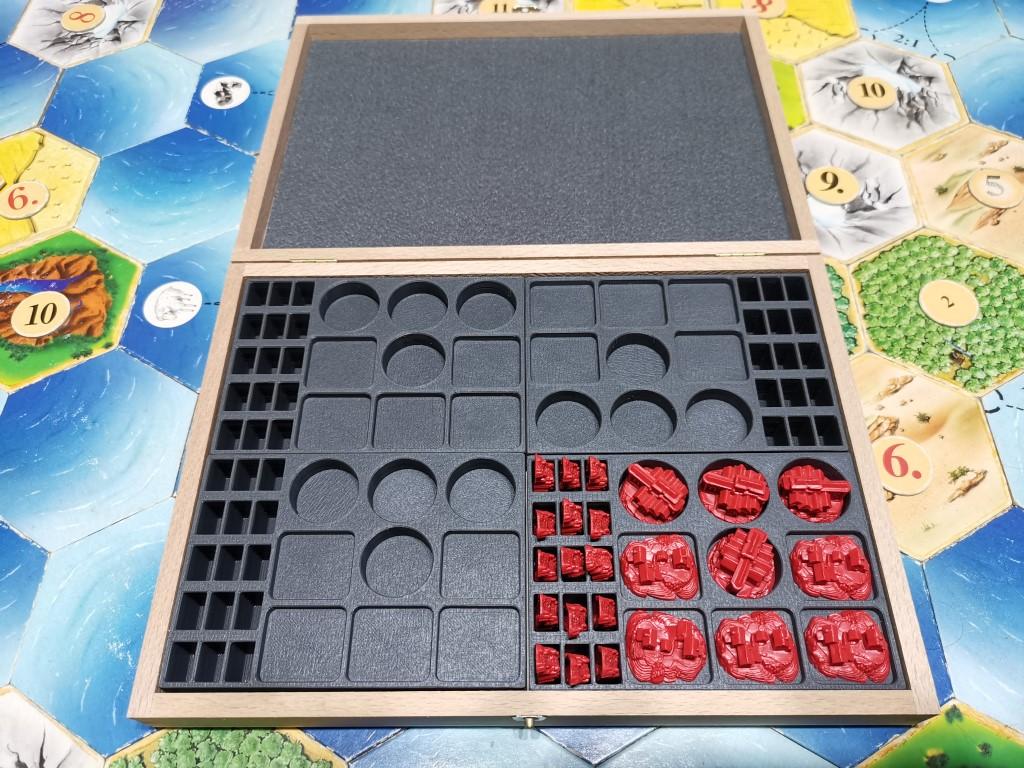 Holzkiste für 4x Basisspiel Kunststofffiguren